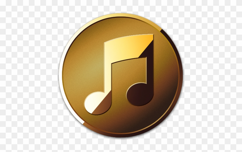 Listen - Gold Music Icon Png #535203