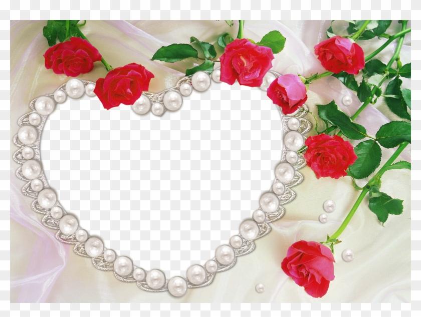 Pearl Heart And Roses Transparent Frame - Jumma Mubarak In Urdu Gif ...
