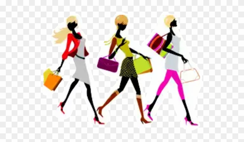 Women Lady Shopping Fashion Friends Jewelry For Sale Clip Art