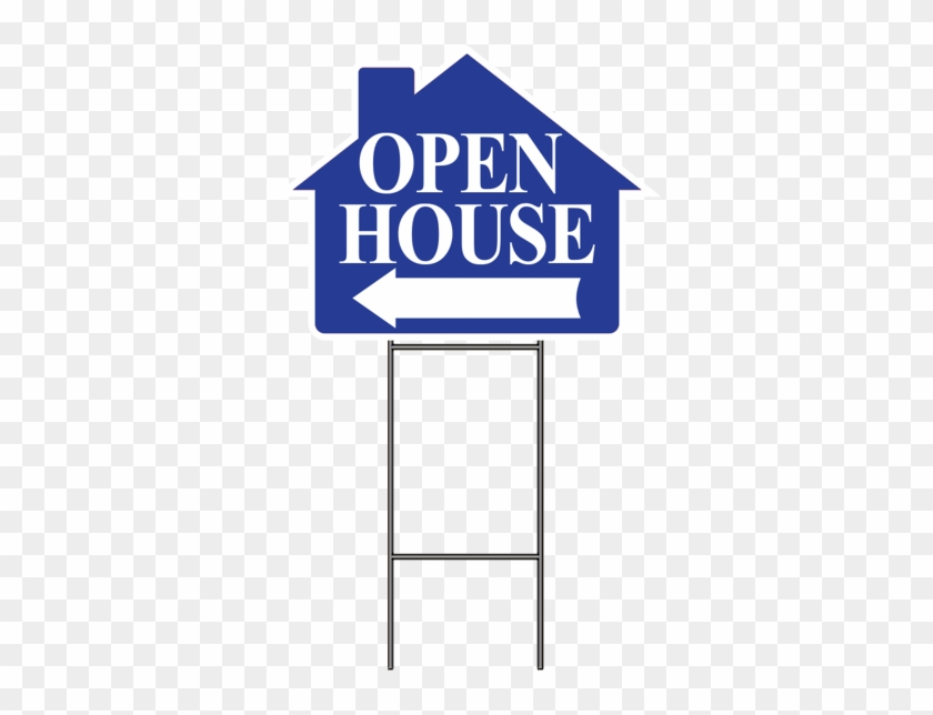 Open House W/frame 4 Pk - Yellow Open House Signs - Free Transparent ...