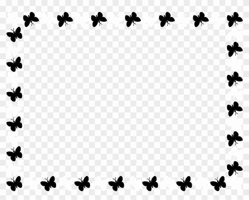 Butterfly Frame Butterfly Border Clipart Black And White Free