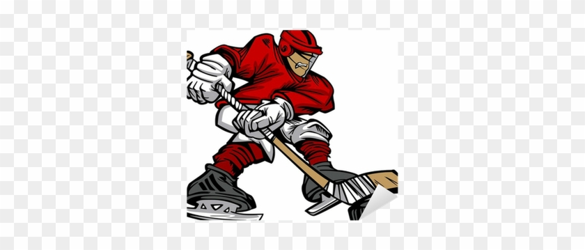 Cartoon Hockey Player Skating Vector Sticker • Pixers® - Cartoon Hockey Player Png #537017