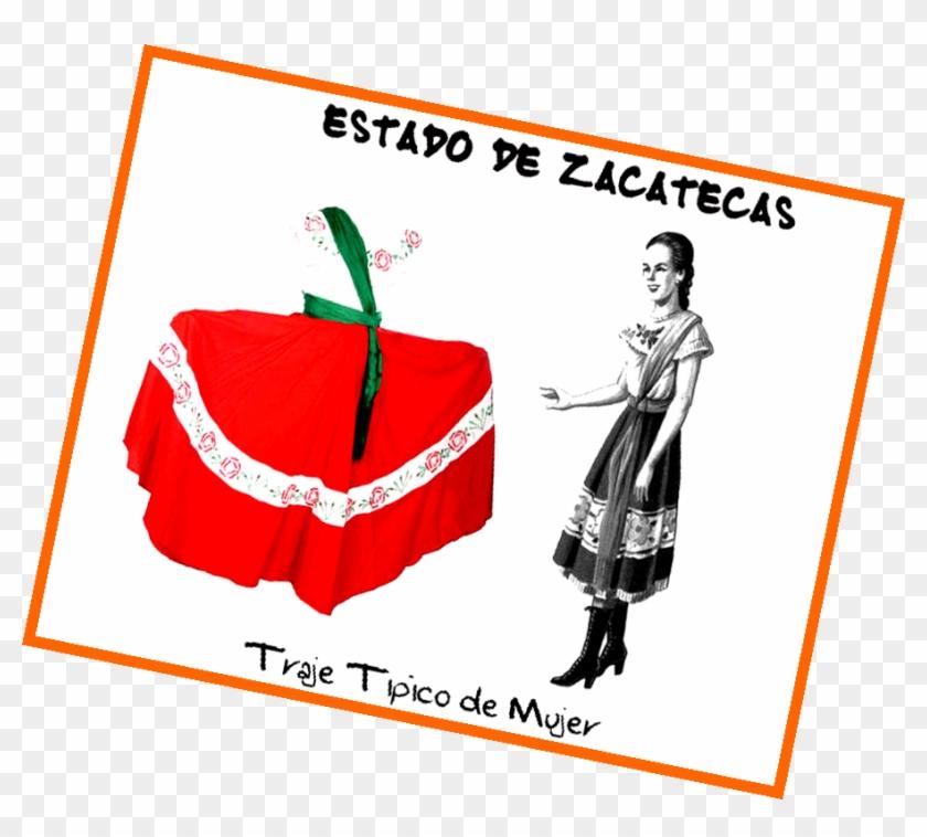 De Manta Trigeuña Anudado A La Cintura En Forma De - Traje Tipico De Zacatecas #537483
