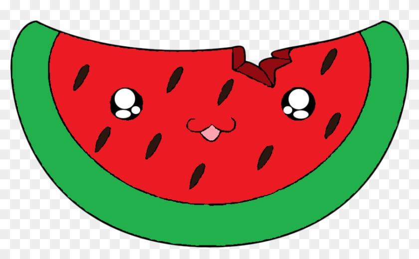 Watermelon Drawing Cartoon Cuteness Clip Art - Cartoon Cute Watermelon #537993