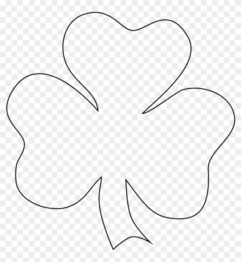 It is a picture of Shamrock Template Printable Free with regard to color print
