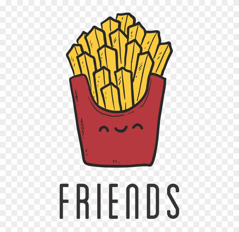 Fish And Chips French Fries Best Friends Forever Wallpaper