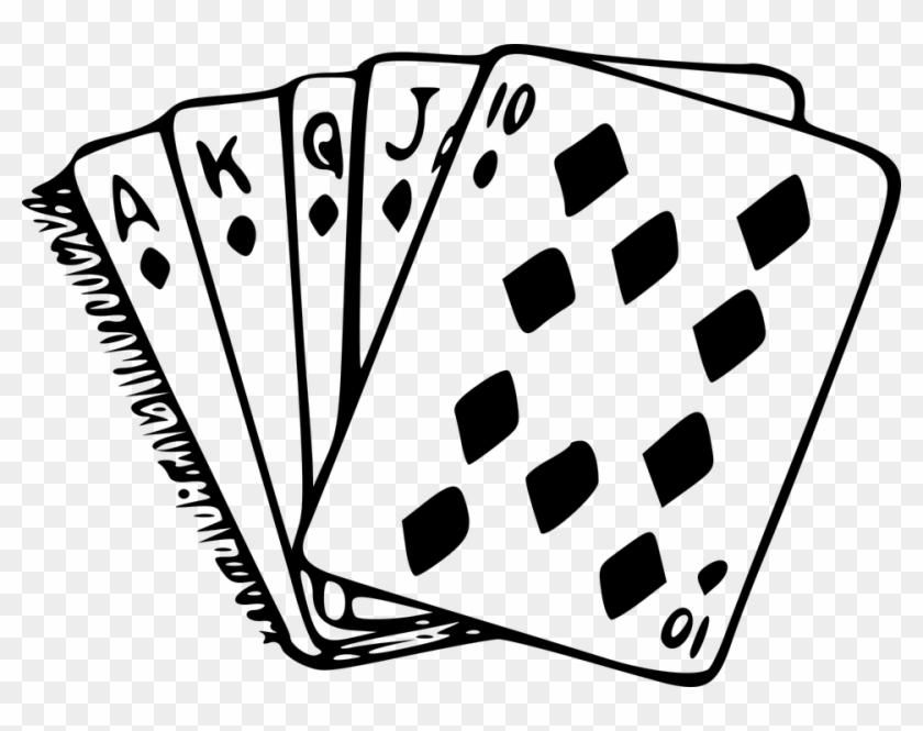 Pin Diamond Images Clipart - Royal Flush T-shirt Poker Texas Hold Em' Card Game #540005