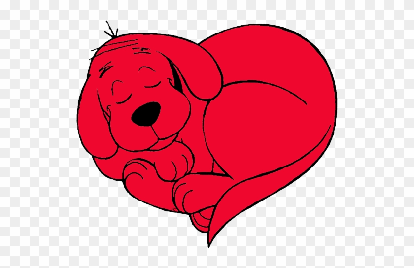 Clifford The Big Red Dog Clip Art Images - Clifford The Big Red Dog Heart #540068