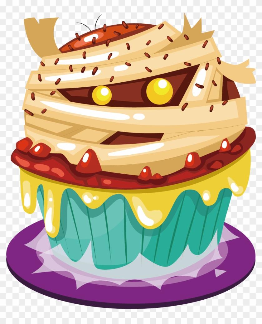 Cupcake Halloween Cake Birthday Cake Birthday Cake Vector Free