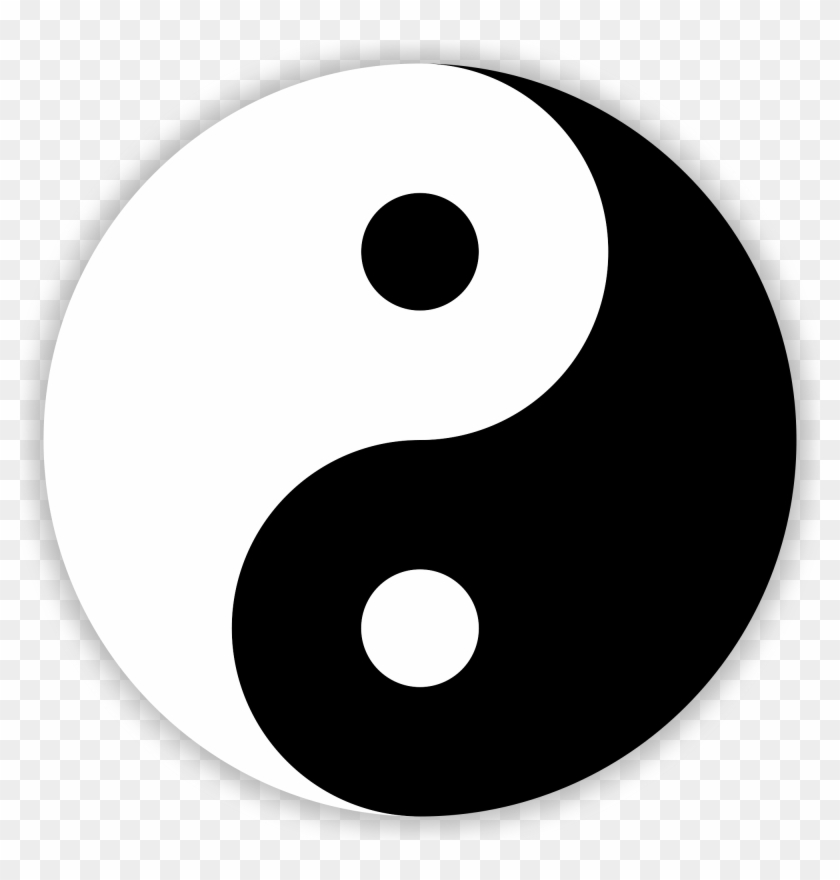 Most People Are Somewhat Familiar With Yin And Yang - Chinese Black And White Symbol #540438