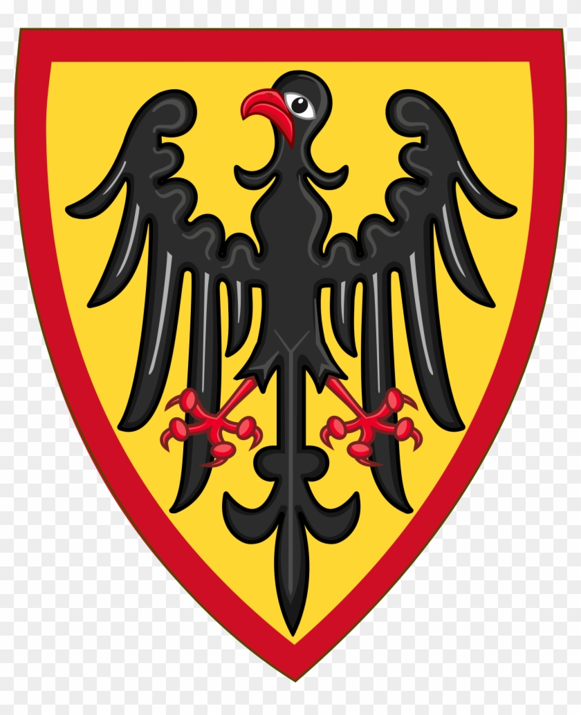 Or, An Eagle Displayed Sable Beaked And Membered Gules, - Holy Roman Empire Shield #540567
