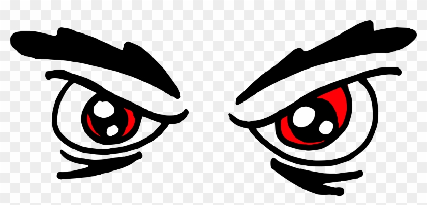 28 Collection Of Red Eyes Clipart - Angry Eyes Clipart #541329