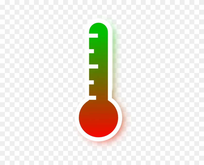 Red To Green Gradient Thermometer Clip Art At Clker - Thermometer #541372