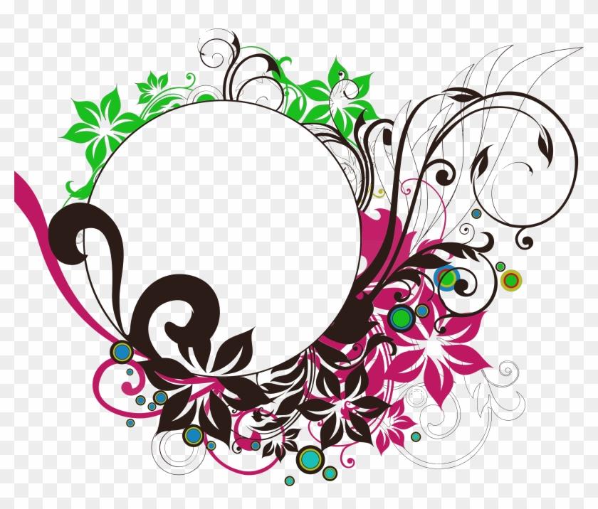 Floral Frame Png Images Transparent Free Download - Circle Frame ...