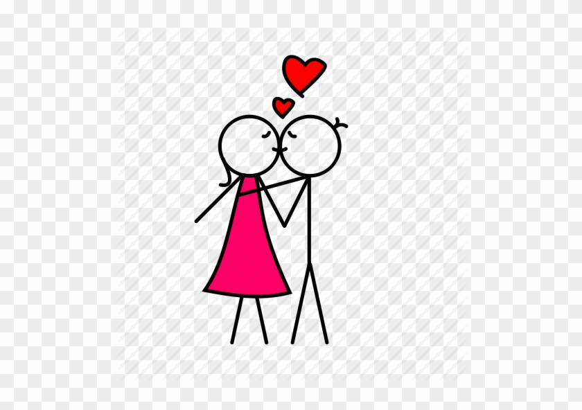 Boy And Girl Kissing Cartoon Boy And Girl Love Png Free