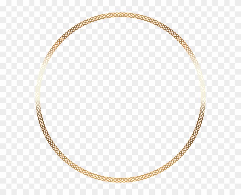 Round Deco Border Frame Png Clip Art - Gold #543224