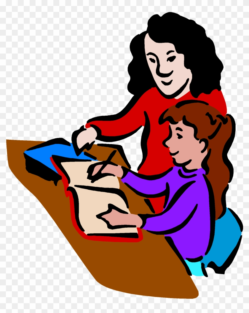 Discuss The Day With Your Child- Specifics - Teacher And Student Clip Art #544335