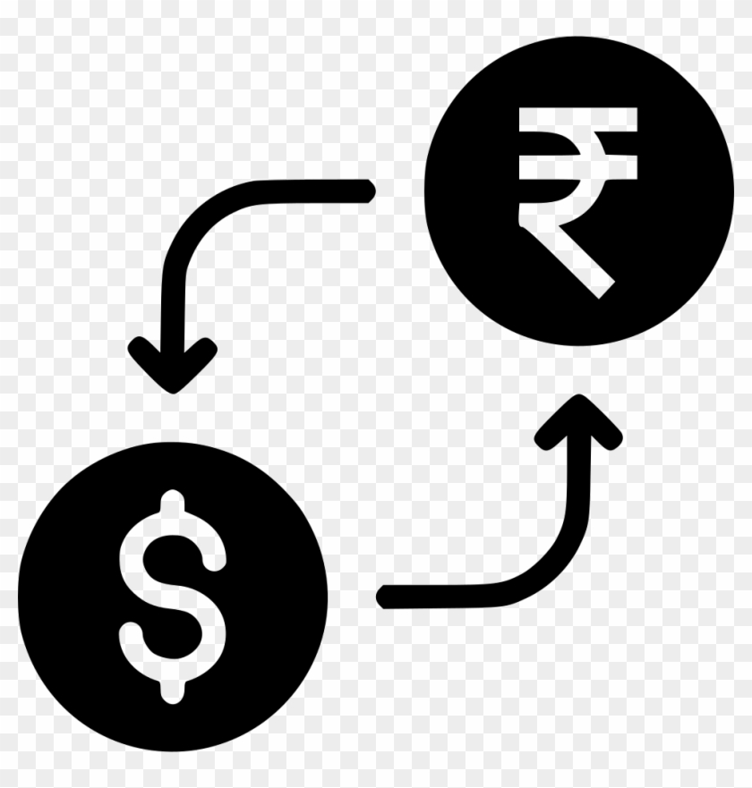 Money Exchange Currency Conversion Indian Rupee Dollar - Dollar To Rupees Icon #544395