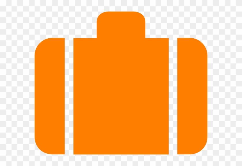 Orange Baggage Symbol Clip Art - Orange Suitcase With Plane Logo #94465