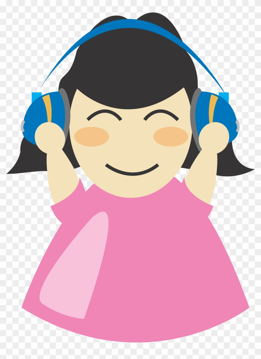 Girl With Headphone Png Images - Person With Headphones Clipart #94481