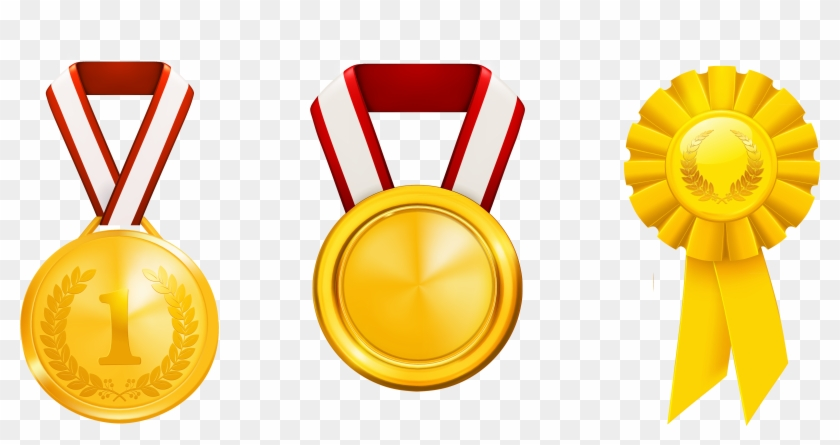 Prizes Honors Set Png Clipart - Medal Clipart Png #94495