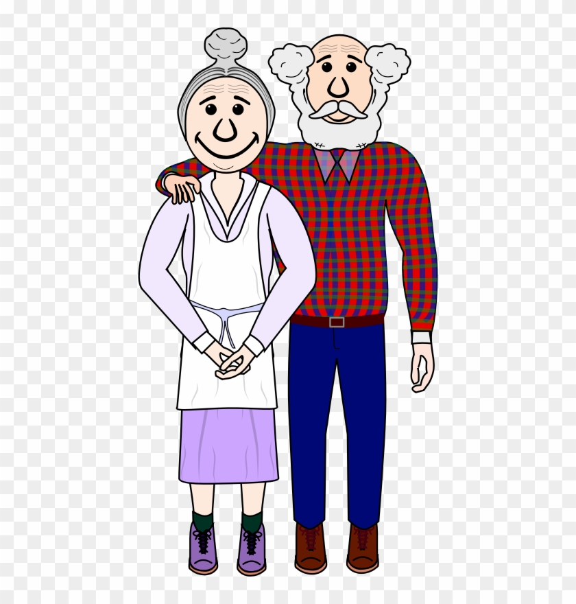 Old Couple Clipart - Old Couple Clipart Png #94511