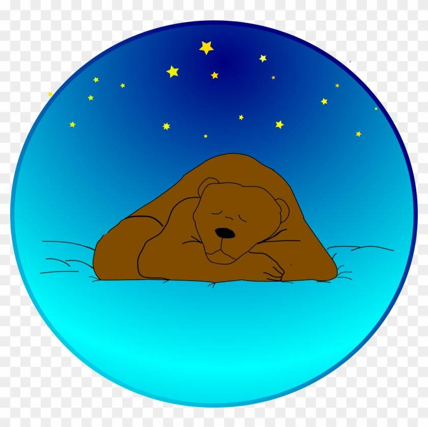 Free Sleeping Bear Under The Stars - Sleeping Bear Clip Art #94517