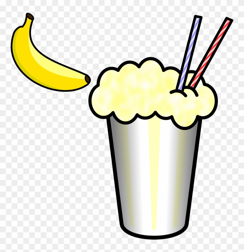 Clip Arts Related To - Banana Milkshake Clipart #94524
