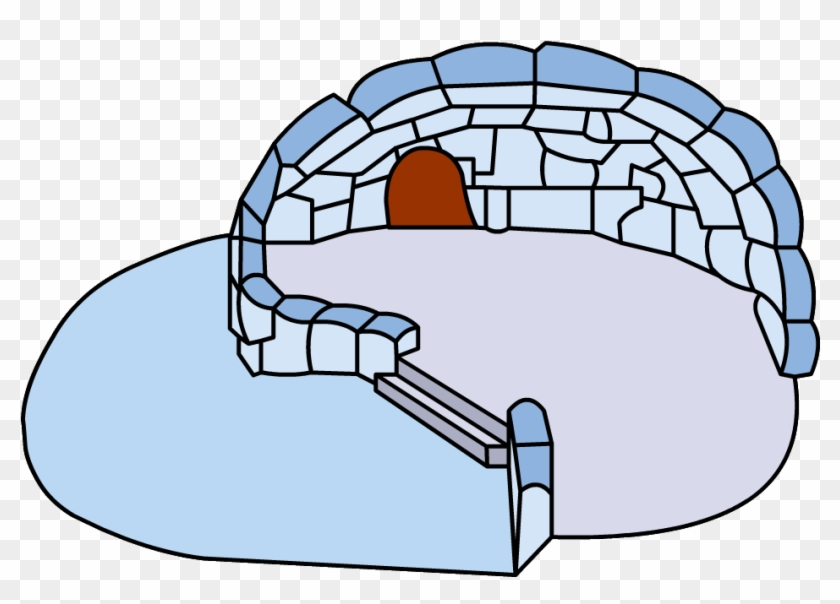 Snowy Backyard Igloo - Club Penguin Split Level Igloo #94529