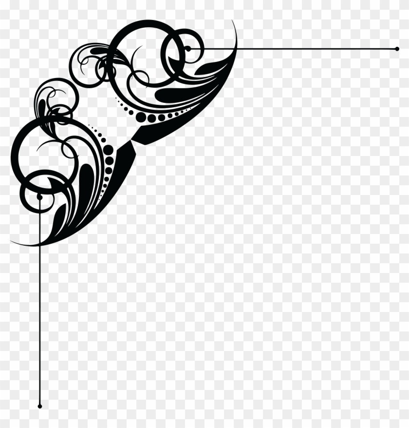 Free Clipart Of A Floral Design Element - Sixteenth Note #94531