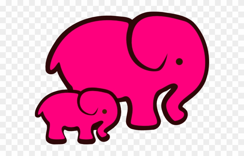 Elephant And Baby Svg #94558