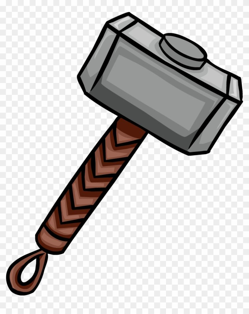 Mjolnir - Thor Hammer Clipart Marvel #94565