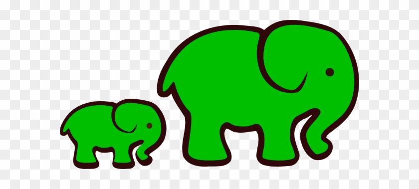 Green Elephant Clipart - Green Elephant Clipart #94580
