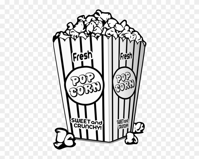 Popcorn Black And White Clip Art - Popcorn Black And White #94585