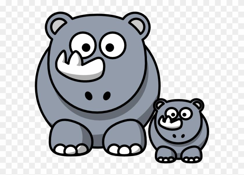 Baby Rhino Clip Art - Cartoon Rhino Clipart #94649