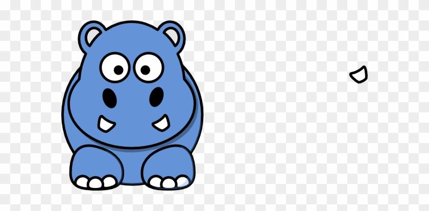 Blue Hippo Animated Clip Art At Clkercom Vector Online - Cartoon Hippo #94652