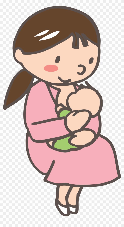 Medium Image - 赤ちゃん 授乳 イラスト #94667