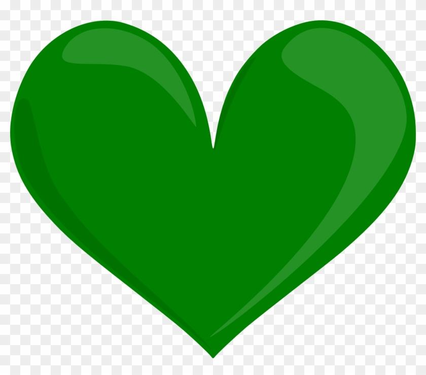 Green Heart Clip Art #94686