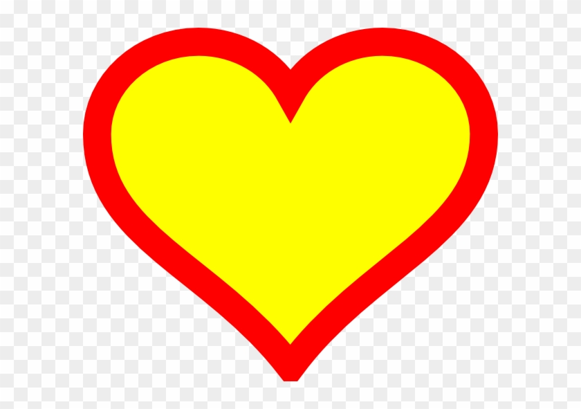 Green Heart Clip Art - Yellow And Red Heart #94689