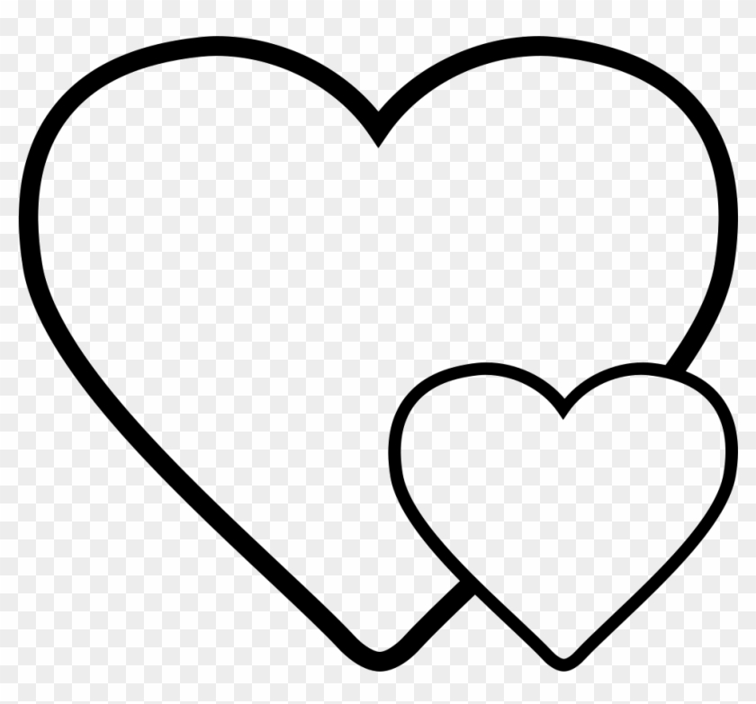 Hearts Svg Png Icon Free Download - Groot En Klein Hartje #94805