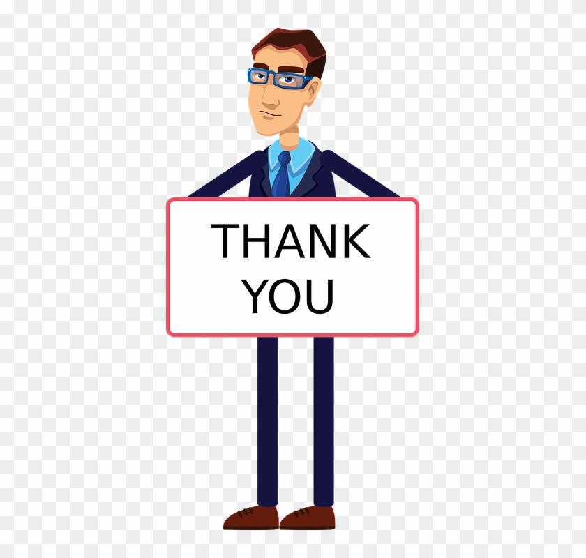 Thank You Animated Character Gentleman - Animated Character Of Thank You #94855