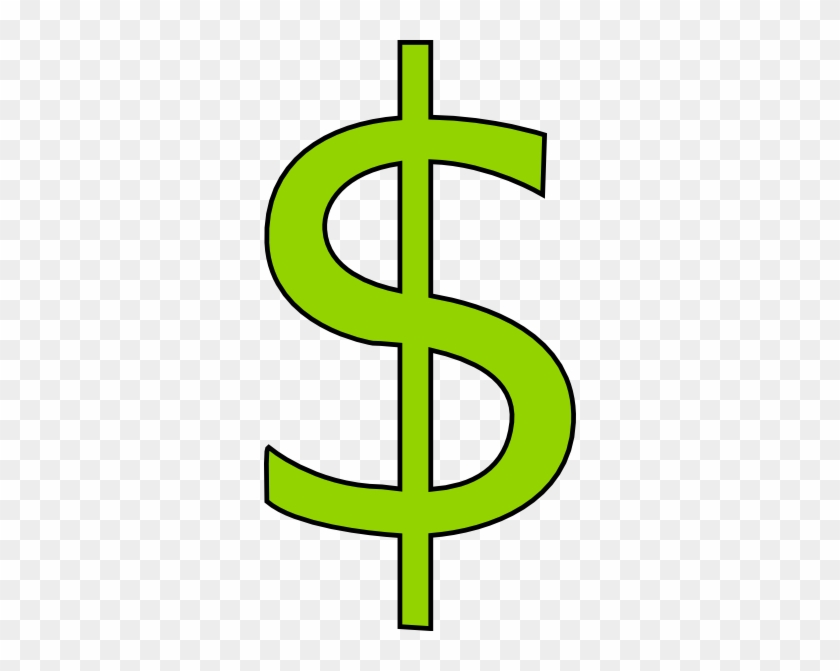 Green Dollar Sign Clipart - Cartoon Dollar Sign Transparent Backgrounds #94870