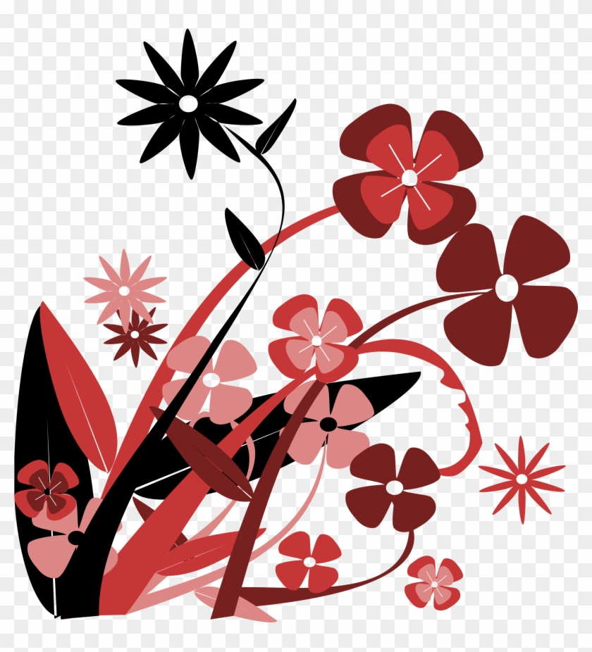Big Image - Red Flower Vector Png #94894