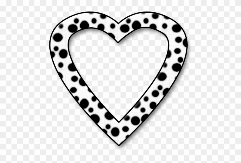 Dalmation Dots Heart Frame Png By Clipartcotttage - Heart Frame In Black #94989