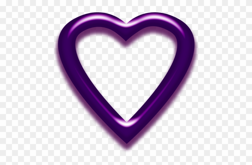 Heart Frame By Clipartcotttage - Heart Purple Picture Frame #95014