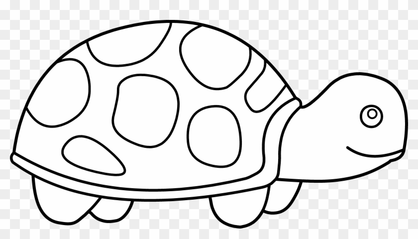 Baby Clipart Black And White - Clip Art Of A Turtle #95032