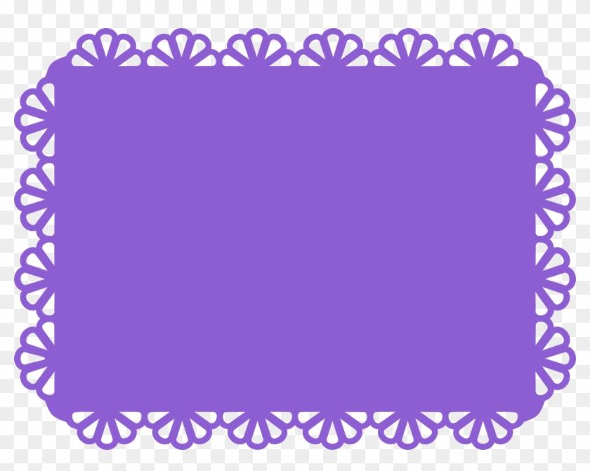 Scallop Border Clip Art - Scalloped Rectangle Borders #95054