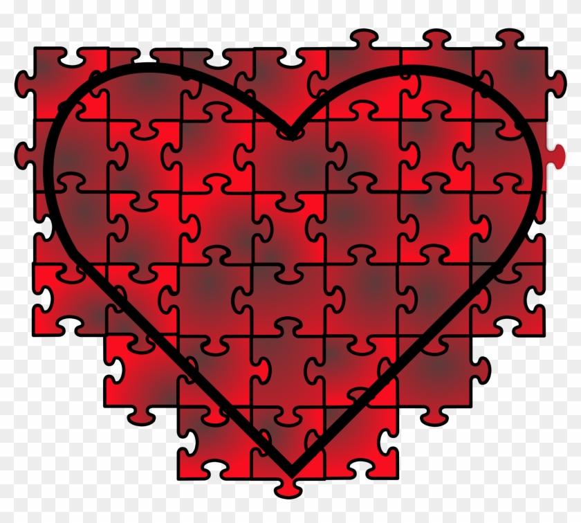 Puzzle Clipart Transparent Background - Heart Puzzle #95057