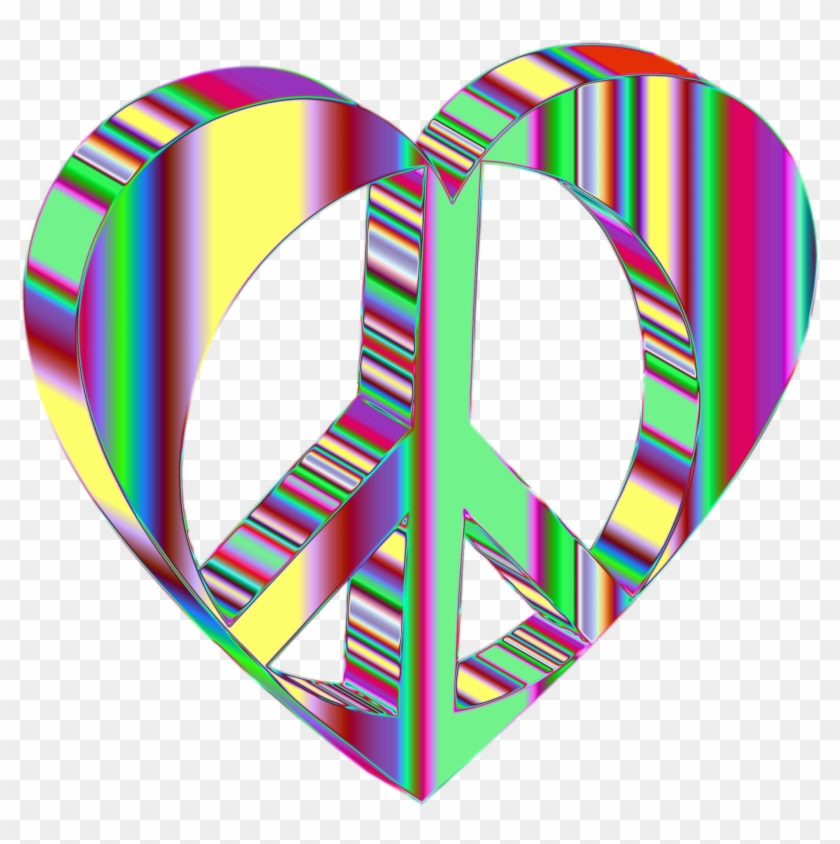 Peace Heart Mark Ii Psychedelic No Background - 3d Clipart With No Backround #95081