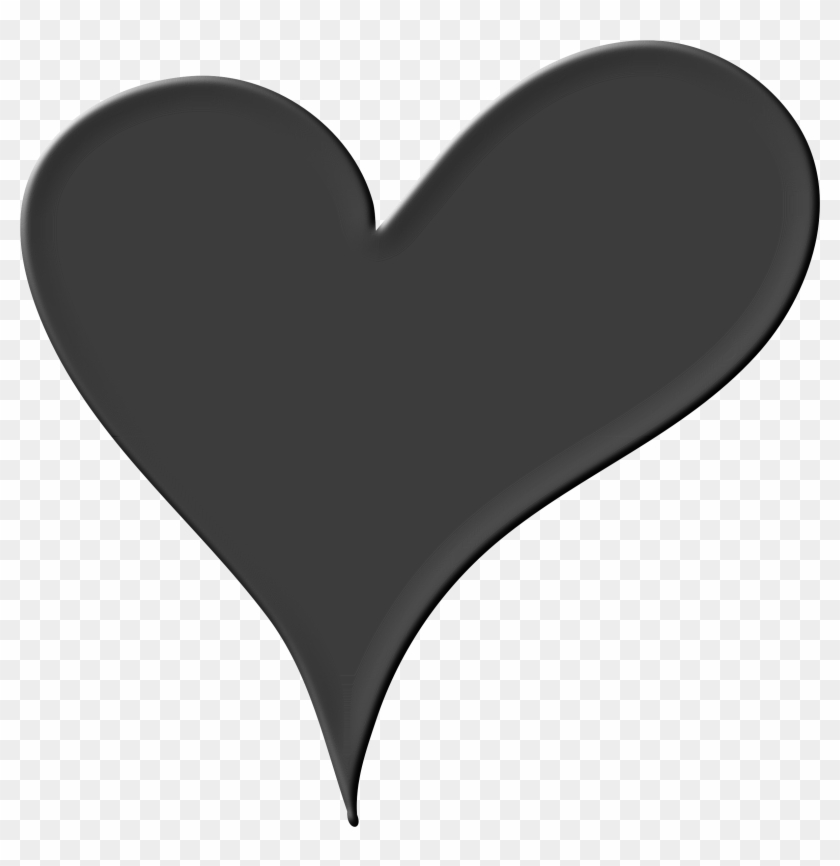 Big Image - Heart Clipart Png Black And White #95082